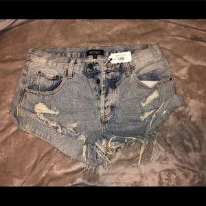 Cute denim ripped shorts